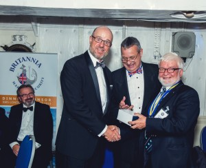 Ken Hickling, Akzo Nobel, receiving his Blue Water Award