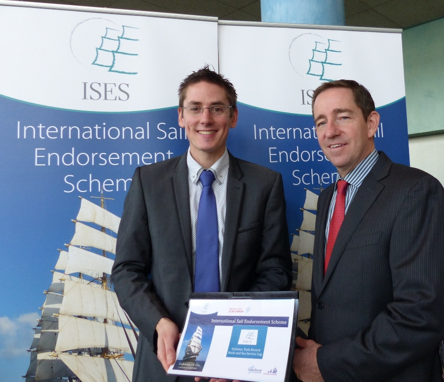 Steven Gosling, (pictured left), Training and Quality Manager at The Nautical Institute and Doug Prothero, Executive Chairman of Sail Training International at the launch of The International Sail Endorsement Scheme