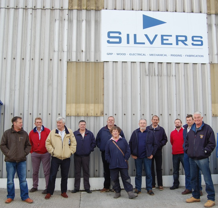 IIMS members who met at Silvers Marine for a two day training session.