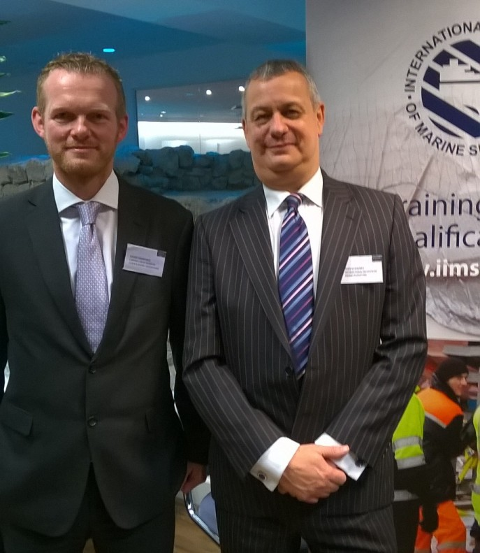 David Lawrence, Controller Lloyds Agents, and Mike Schwarz at the networking event