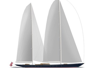 An impression of what the new 56 metre classic ketch to be built by Royal Huisman will look like