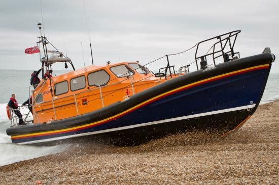 The RNLI has delivered a new Shannon class lifeboat to Hoylake. Image courtesy of RNLI