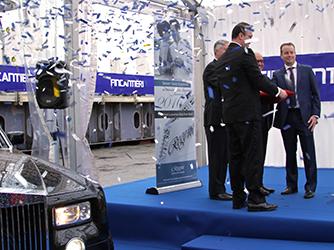 Fincantieri has laid the keel for the luxurious Seven Seas Explorer for Regent Seven Seas Cruises