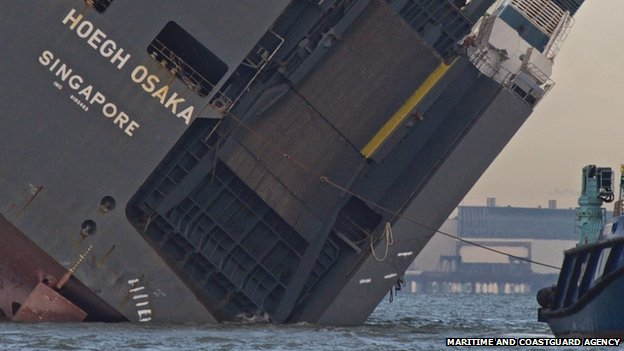 The stricken Hoegh Osaka that has provided an extraordinary spectacle for people living on the UK south coast could soon be on the move back to port