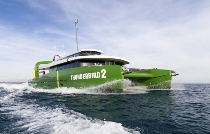 Brilliant Boats has built and launched this interesting vessel called Thunderbird 2