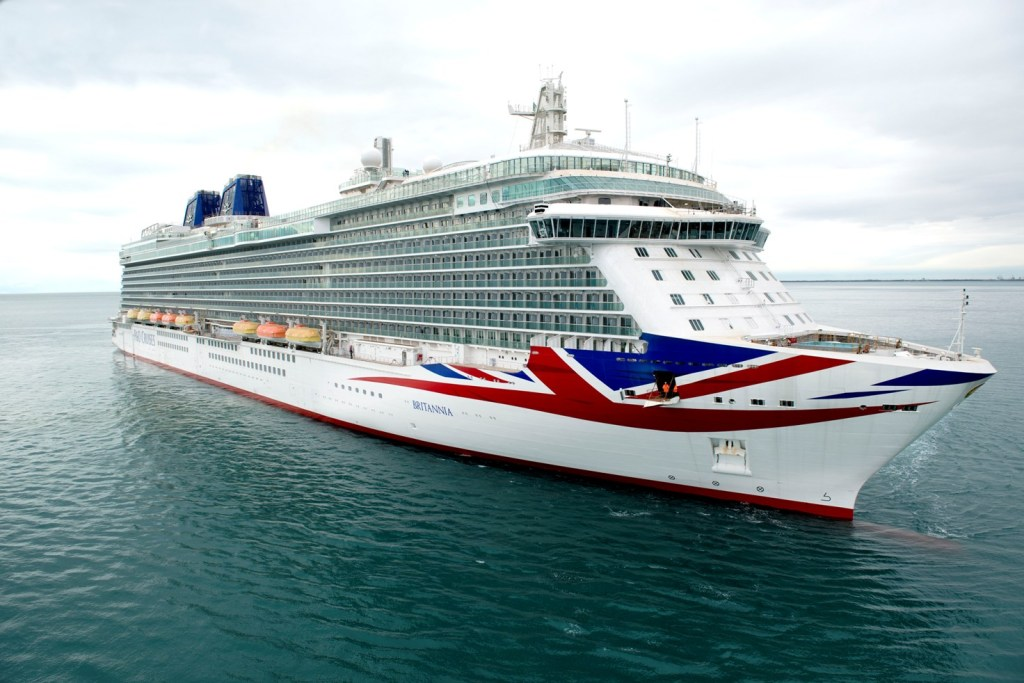 P&O's new and largest cruise ship, BRITANNIA, has announced her presence on the world stage. © P&O Cruises