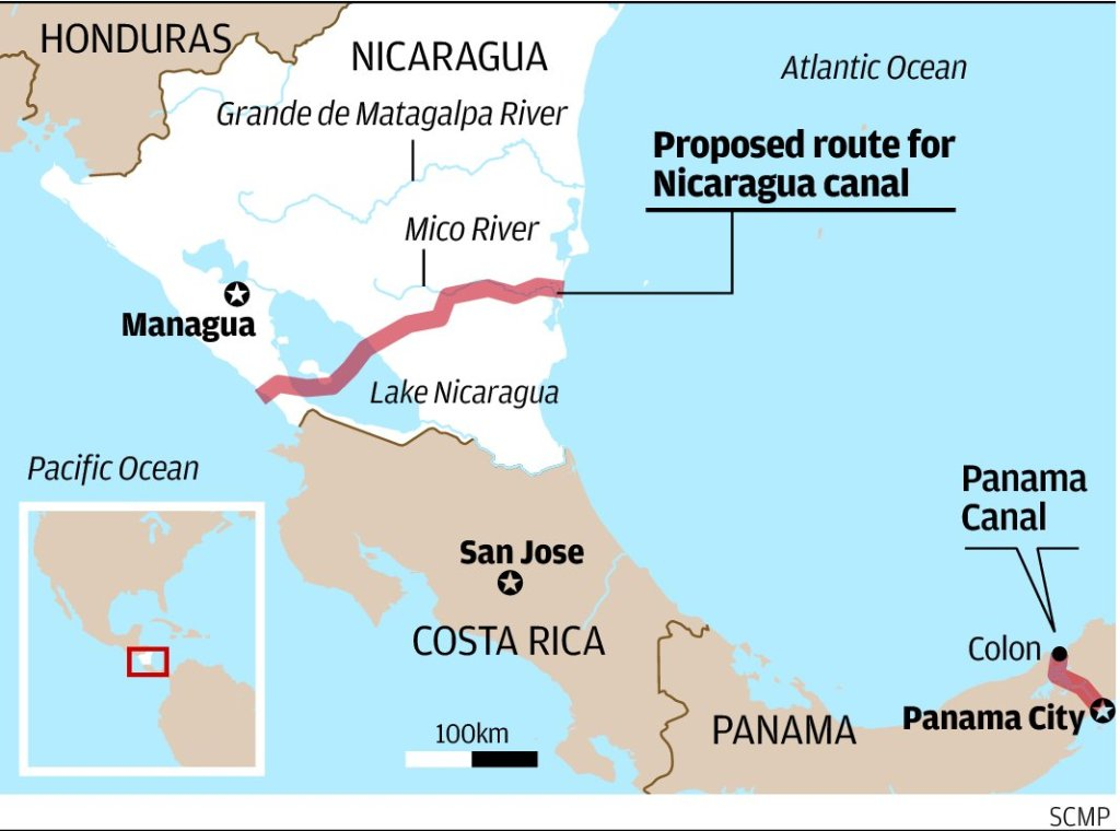 Environmental scientists have questioned the effects of the Nicaragua Canal. Image courtesy of South China Morning Post
