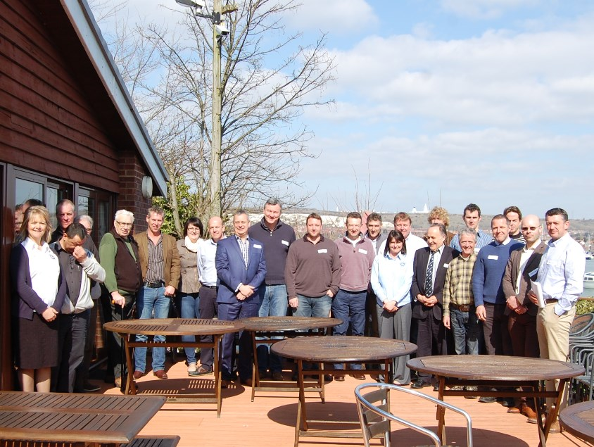 Nearly 30 marine surveyors were joined by IIMS head office staff at the SCWG training day, which was held at Portchester Sailing Club