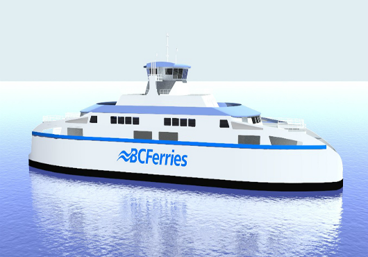 BC Ferries announces its second of three LNG ferries is under construction