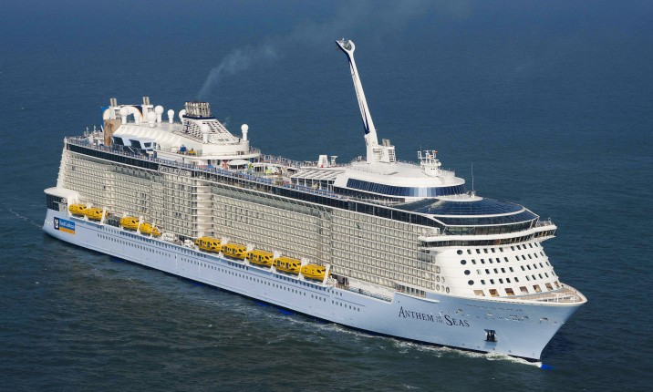 Meyer Werft has delivered the nearly 348 metres Anthem of the Seas to Royal Carribean Cruises