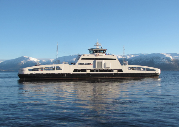 Norwegian shipbuilder Fjellstrand has built the world's first electric car ferry for Norled