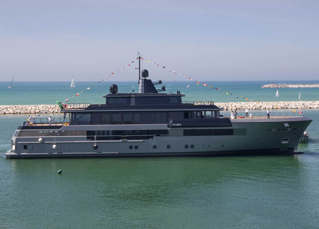 The new and distinctive megayacht Atlante has been launched in Ancona by CRN