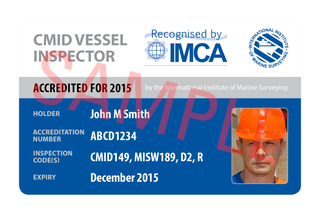 The first CMID accredited vessel inspectors have been announced.