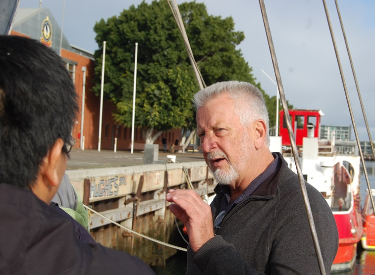 Capt Peter Lambert talks compass adjusting at the IIMS Australia workshop in Adelaide