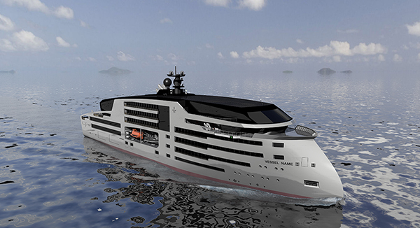 This is the Ulstein Group concept cruise vessel
