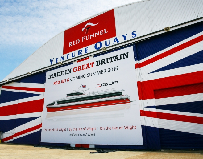 The announcement by Red Funnel means that Red Jet 6 will be the first vessel of her kind to be built in the UK for 15 years