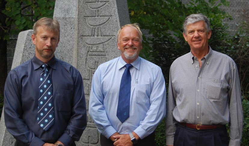 From left to right: Capt Andrew Korek, Richard Smith and Tim Ellis who will form the heart of the new IIMS Canada committee.