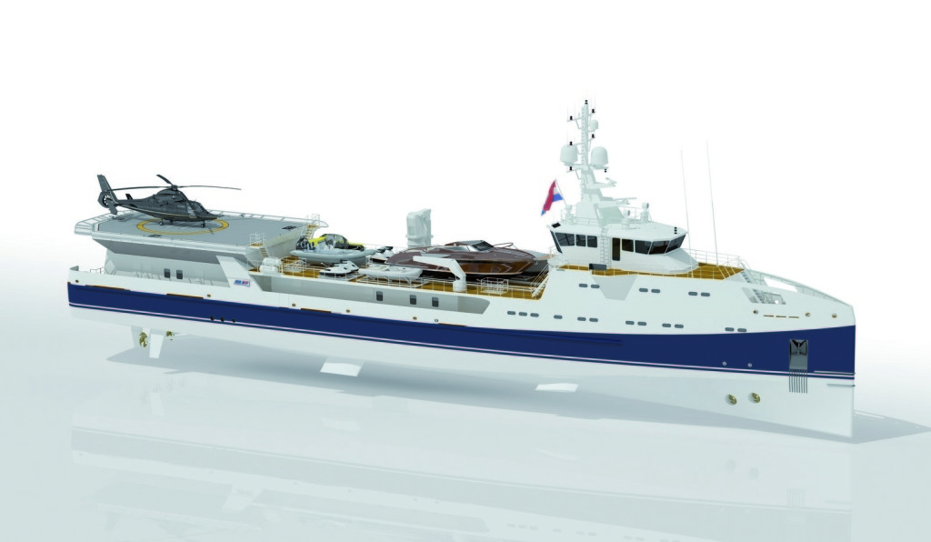 DAMEN launches its first superyacht support vessel