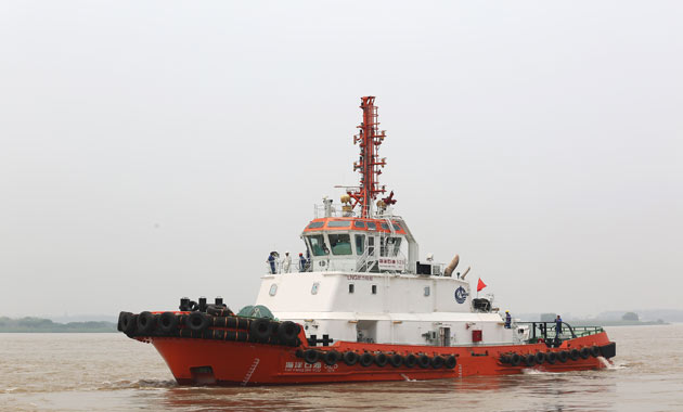 CNOOC has taken delivery of Asia's first LNG-powered tug Hai Yang Shi You 525, designed to operate solely on liquefied natural gas as ship's fuel