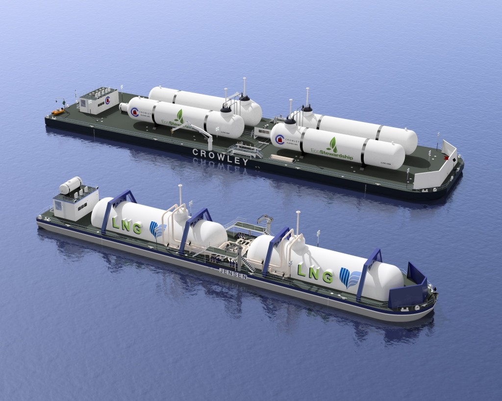 Jensen Maritime is planning the development of two new LNG bunker barge concepts