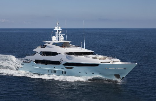 The Sunseeker 155, one of the craft helping to rev up the British superyacht sector