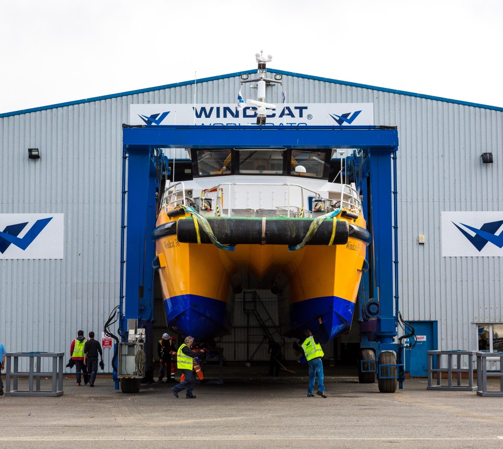 Windcat Workboats launches its newest vessel. Picture: Stephen Waller