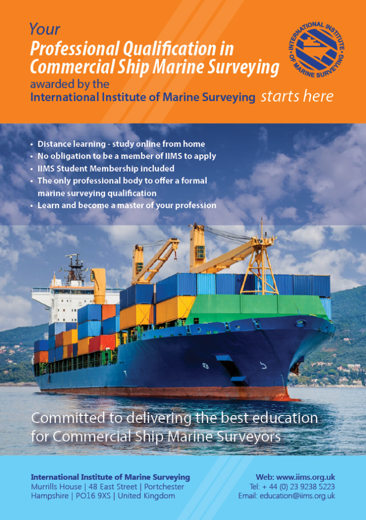 Click to view the Professional Qualification in Commercial Ship Marine Surveying prospectus