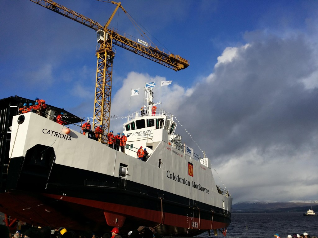 Ferguson Marine Engineering Ltd of Port Glasgow has launched a third hybrid ferry