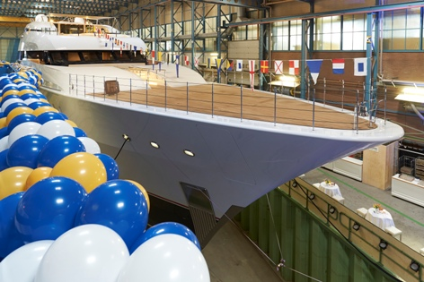 The latest superyacht from Feadship, Vanish, awaits its formal launch
