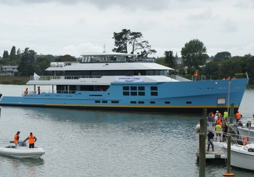 McMullen & Wing has launched their largest explorer superyacht from their New Zealand yard