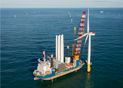 First wind turbine installed at Gemini Offshore Wind Park