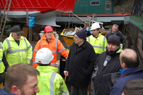 Some of the group pictured who met at Watford for the IIMS small craft ultrasonics training day