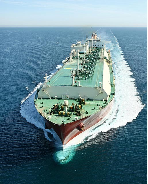 Photograph showing LNG carrier Zarga at sea by Fotoflite.com