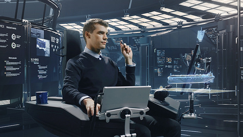 Photo credit - Rolls Royce. This is now a future control crew for unmanned ships might operate