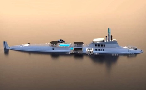 The range of Migaloo submersible yachts has five concepts to choose from