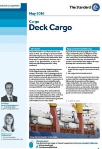 Deck cargo bulletin