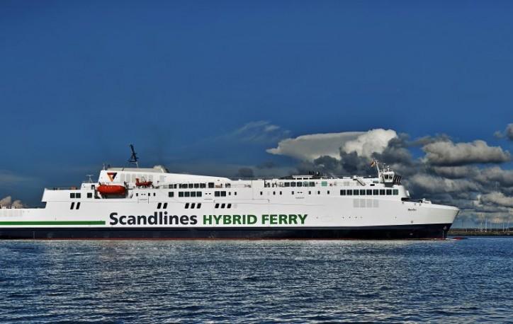 Scandlines has christened its new hybrid ferry Berlin