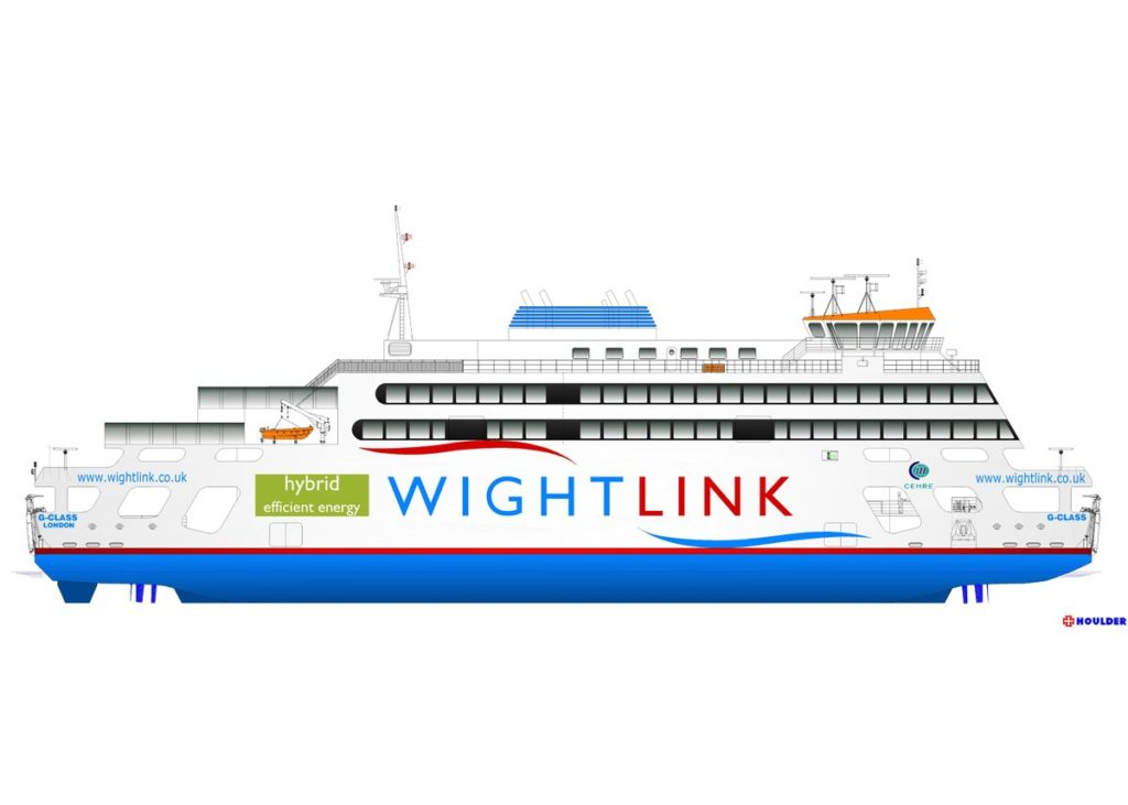 Impression of the new Wightlink flagship ferry