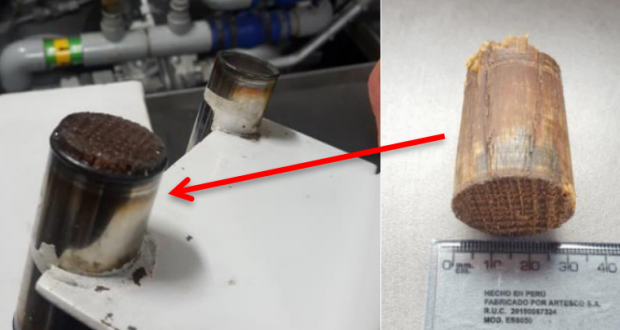 The wooden bung found to be the cause of the problem