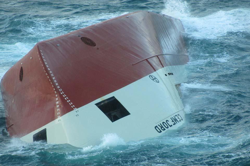 Upturned hull of the Cemfjord