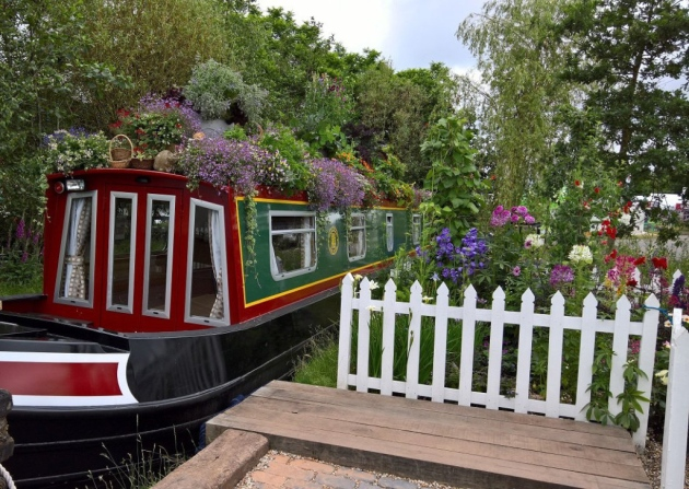 The Canal & River Trust kicks off 'Boats in Bloom' Awards. (Photo from Gardeners' World Live 2016)