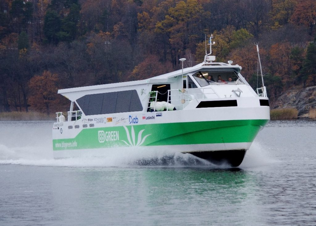 BB Green is the world's first fully air supported vessel