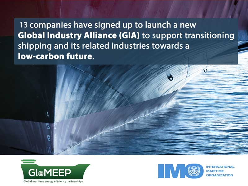13 leading shipping and marine organisations have come together to support the progress towards a low carbon shipping future