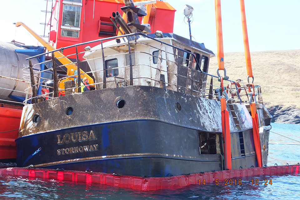 Photograph of Louisa recovery