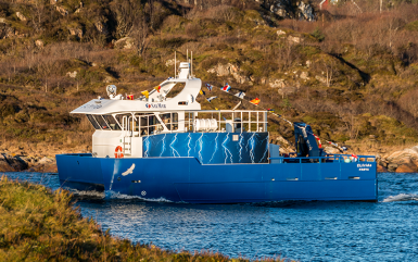 Powered by PBES, the Elfrida is the world's first electric aquaculture support vessel