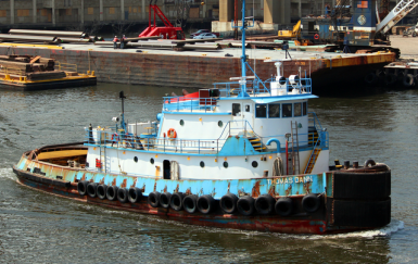 Thomas Dann tug (Dann Ocean Towing). Photo credit: Birk Thomas