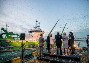 Belgium's DEME Group's green dredging vessel Spartacus