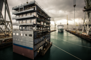 First ever luxury cruise ship lengthening undertaken by Fincantieri