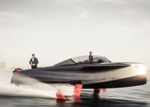 Stylish and futuristic foiling craft launched by Enata Marine