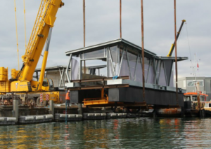 Poole Liveboat Stations gets a new floating boat house